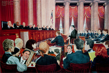 Jay Sekulow arguing a case at the Supreme Court