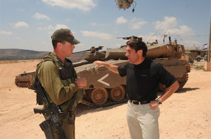 Jay Sekulow interviewing an IDF Soldier