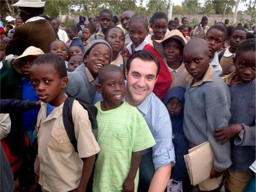 Jordan Sekulow working with the Be Heard Project in Africa.